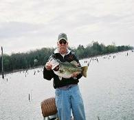 Thurman at Bass A Specialty Guide Service with a Large Mouth Bass