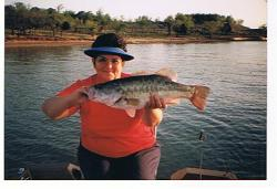 Eight Pound Balck Bass caught by Betty